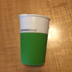 Starbucks Green Cream Ceramic Tumbler